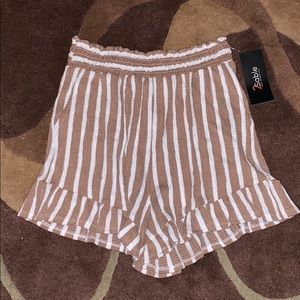 High Waisted Soft Stripped Shorts